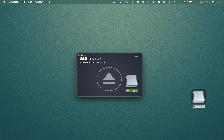 USBclean Mac 破解版 强大的USB清理工具-麦氪派
